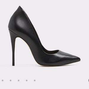Black leather heels from Aldo